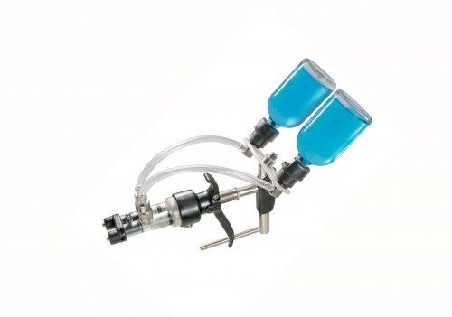 Vacinador com porta frasco e Dupla Agulha / Aplicador ou dosador Serena 2ml Regulagem de 0,2ml a 2ml