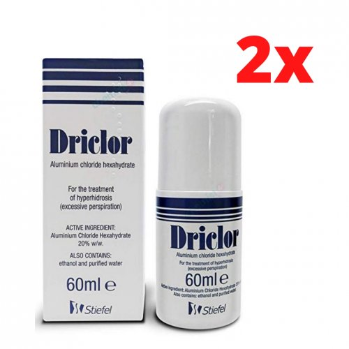 Driclor 60ml - Pack 2 Unidades