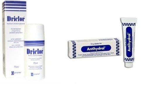 Driclor 60ml + Antihydral®- Suor no corpo, pés e mãos