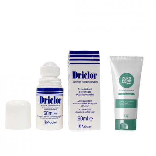 Driclor 60 ml + Zero Odor Cuidado Completo